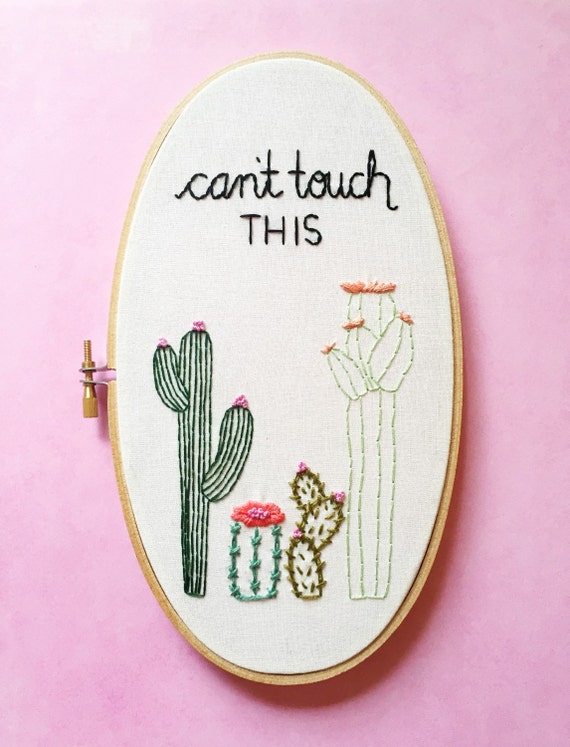 Cactus Embroidery Embroidery Hoop By Kimart Cacti Etsy