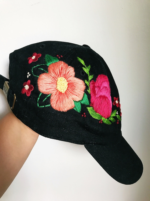 Floral baseball cap. Embroidered Cap. Hat for Women.  153cf401178