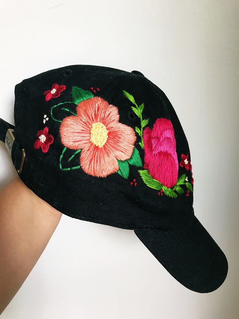 360b62e5c11a2 Floral baseball cap. Embroidered Cap. Hat for Women.