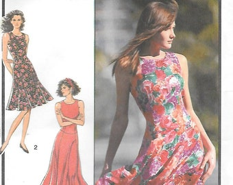 0b94c4e36bd4a Style 1528 UNCUT Sleeveless Summer Dress with Flared Fluted Skirt Sewing  Pattern Bust 34 to 38 Dance Dress