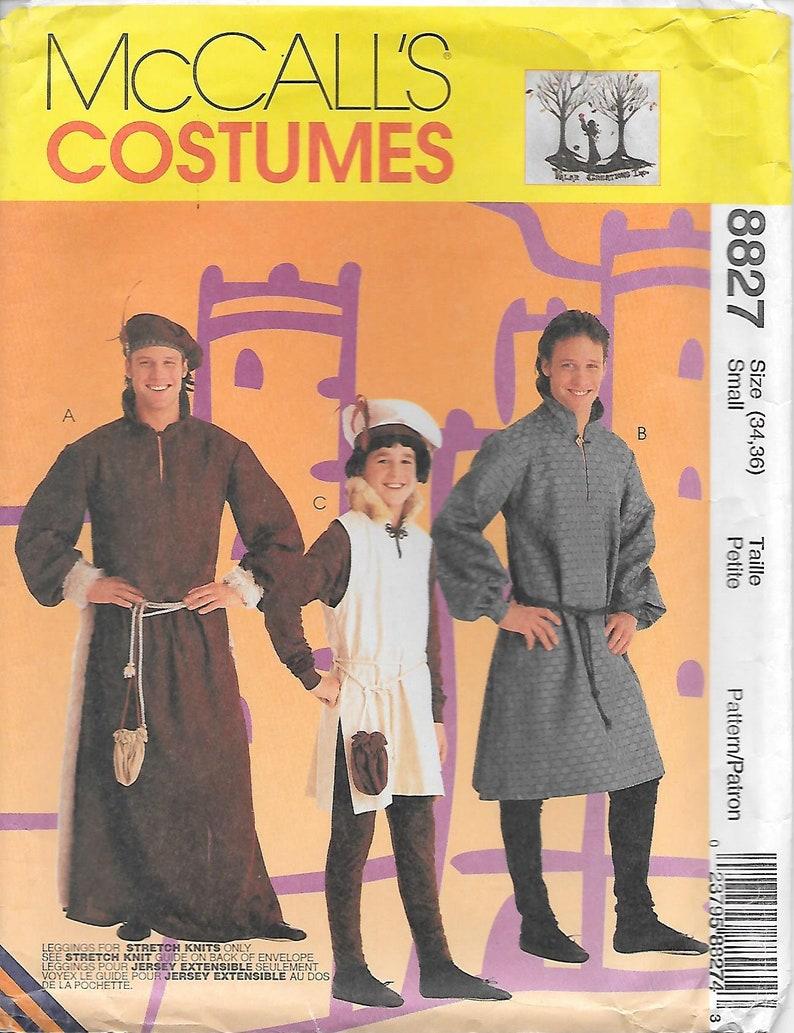 McCalls Cosplay Mens Sewing Pattern 2009 Historical Medieval /& Renaissanc...