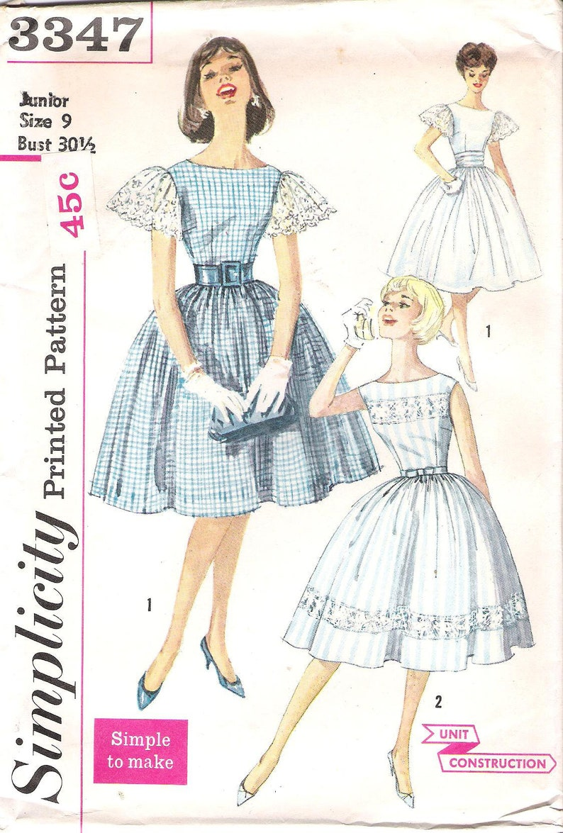 Simplicity 8246 1960 Vintage Styled Dress And Coat