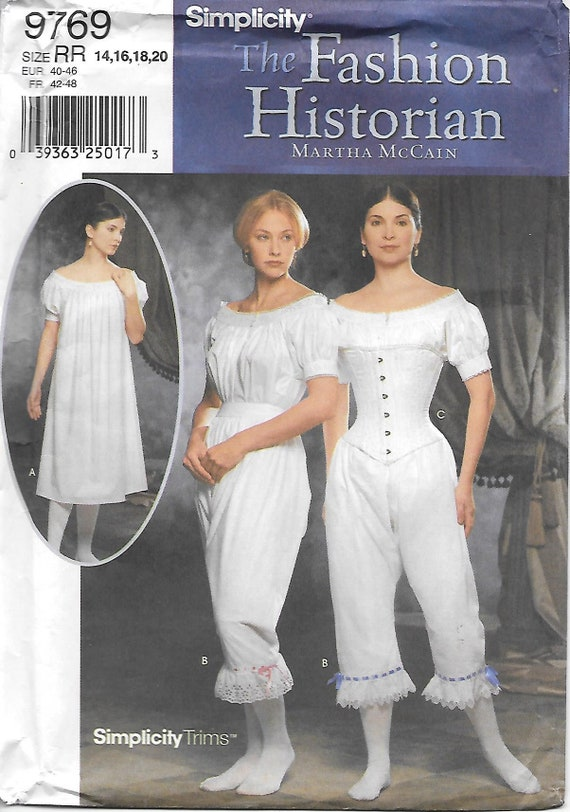 Pantaloons C... McCalls Cosplay Ladies Sewing Pattern 2001 Historical Camisole