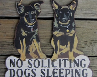 CUSTOM DOG SIGN German Shepherd - Original Hand Painted Hand Crafted Wood