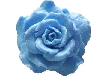 Blue Rose Soap  -  Blue Soaps   -  Decorative Soaps -  Gift Soaps  -  Moisturizing Soap  - Organic Soap -  Plumeria Scent