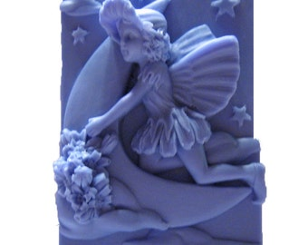 Crescent  Moon Fairy Soap - Organic Soap - Vegan Soap -  Glycerin Soap - Moisturizing Soap -  Fairy Soap  - Soap Bar -  Plumeria Scent