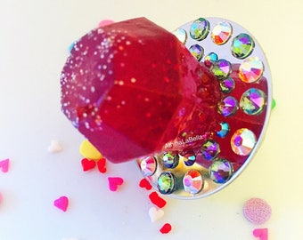 Ring Pop, Candy Ring, Candy Jewelry, Kawaii Jewelry, Kitsch Jewelry, Resin Jewelry