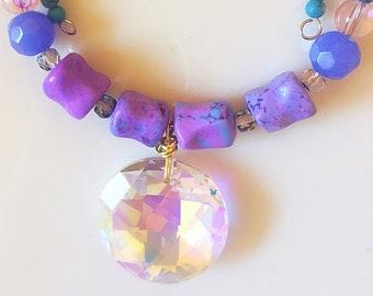 Crystal choker, Gemstone Beaded Choker, Agate Stone, Boho Choker, Boho Style, Boho Jewelry, Statement Necklace, Gyspy Jewelry