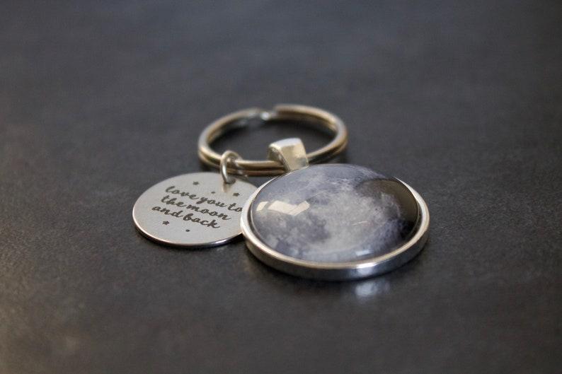 Custom To The Moon And Back Keychain I Love You To The Moon And Back Keyring Moon Phase Necklace Custom Personalised Moon