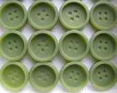 30 Vintage Green Buttons