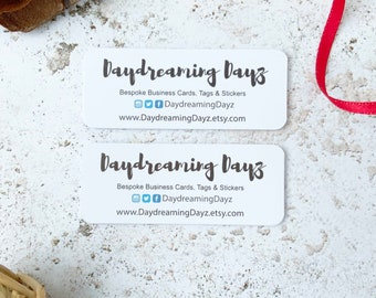 Mini business Cards Eco Friendly Smooth White Recycled Card, Social media cards or mini thank you cards