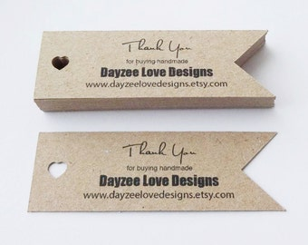 Boho Wedding Tags - Custom Heart Flags - Save the Date - Baby Shower - Personalised Wedding Invites - Eco Friendly Business Cards - Recycled