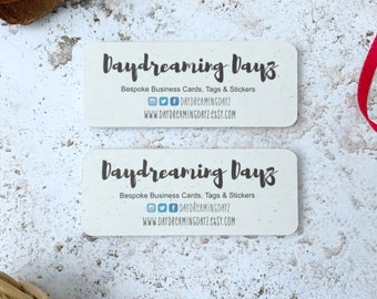 Mini business Cards Eco Friendly Oat White Recycled Card, Social media cards or mini thank you cards