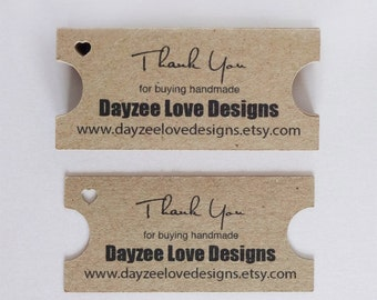Ticket Business Cards - Eco Friendly Tags - Custom Kraft Cards  - Rustic Save the Date - Personalised Business cards - Business Branding -