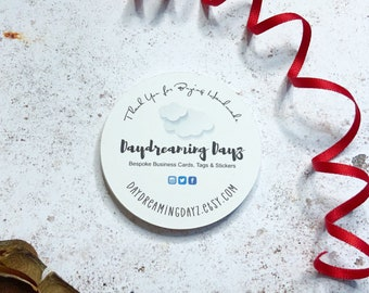 50 Round business cards, Backing Cards, Recycled Card Eco friendly card, Great Calling cards, Care Cards or Thank you cards