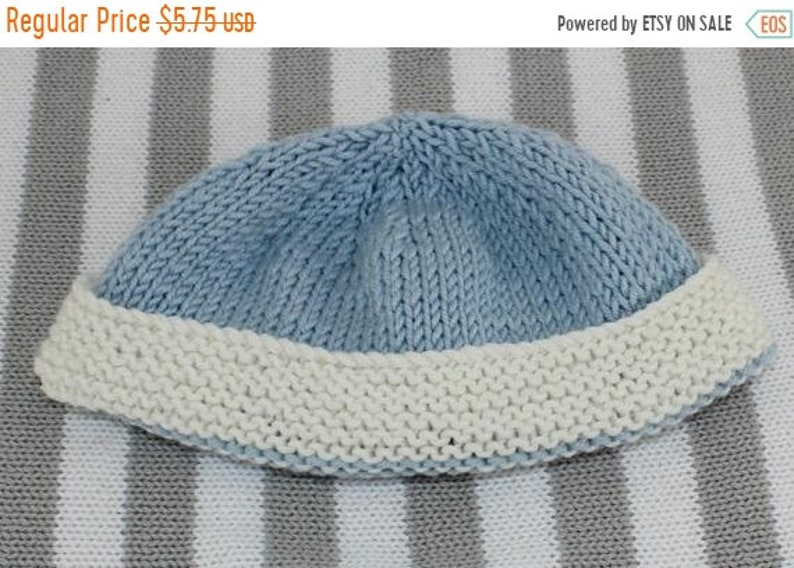 076eef3cd HALF PRICE SALE madmonkeyknits - Baby 2 Colour Beanie knitting pattern pdf  download - Instant Digital File pdf knitting pattern
