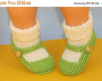 sale 25% off Instant Digital File pdf download Knitting pattern- Baby One Button Sock and Slipper Booties pdf download knitting pattern