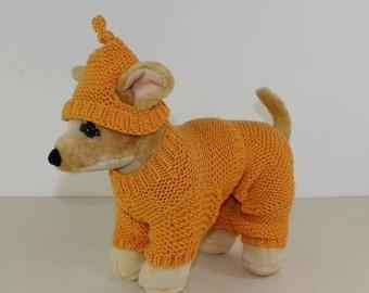 sale 25% off madmonkeyknits - Small Dog Aran Pyjamas and Nightcap knitting pattern pdf download - Instant Digital File pdf knitting pattern