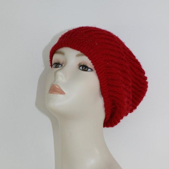 4 Ply Fishermans Rib Slouch hat CIRCULAR knitting pattern by  7cf1d57742b