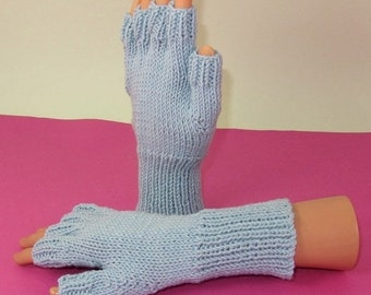 sale 25% off Digital pdf file knitting pattern- Simple Short Finger Gloves pdf download knitting pattern