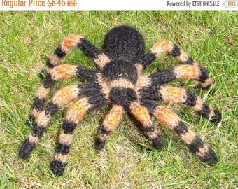 sale 25% off Instant Digital File pdf download My Pet Tarantula Toy Spider pdf download knitting pattern