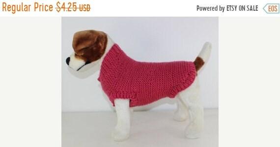 Half Price Sale Chunky Garter Stitch Dog Coat Knitting Pattern Etsy