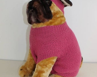 sale 25% off madmonkeyknits -  Dog Moss Stitch Coat and Headband CIRCULAR knitting pattern pdf download - Instant Digital File pdf knitting