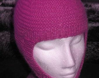 sale 25% off Instant Digital File pdf download knitting pattern - madmonkeyknits Garter Stitch balaclava and Beanie pdf knitting pattern.