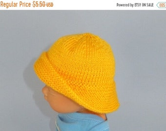 sale 25% off Digital file pdf download knitting pattern-Baby Souwester Rain Hat pdf knitting pattern