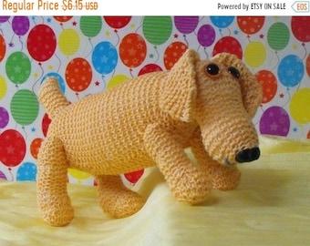sale 25% off Instant Digital File pdf download knitting pattern-MADMONKEYKNITS- Nursery Toy Sammy Sausage Dog pdf download knitting pattern