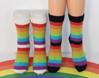 sale 25% off madmonkeyknits pdf Download Knitting Pattern: Ladies Simple Rainbow Socks Circular