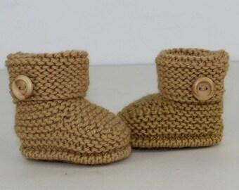 sale 25% off madmonkeyknits - Baby Simple Cuff Boots knitting pattern pdf download - Instant Digital File pdf knitting pattern