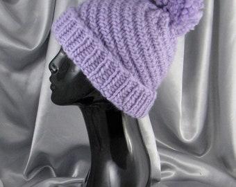 sale 25% off Instant Digital File pdf download Knitting Pattern- Superfast Swirl Bobble Beanie hat knitting pattern pdf download
