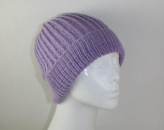 sale 25% off Instant Digital File pdf download Knitting pattern- 4Ply Fishermans Rib Unisex Beanie Hat pdf download knitting pattern