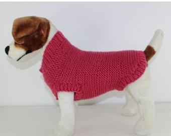 sale 25% off Chunky Garter Stitch Dog Coat knitting pattern by madmonkeyknits - instant digital pdf download knitting pattern