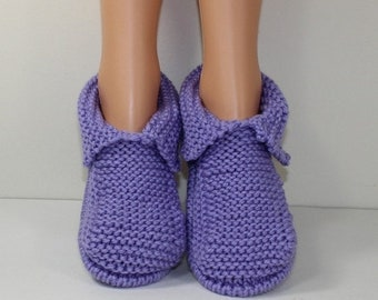 sale 25% off Adult Chunky Slippers knitting pattern by madmonkeyknits - Instant Digital File pdf download knitting pattern