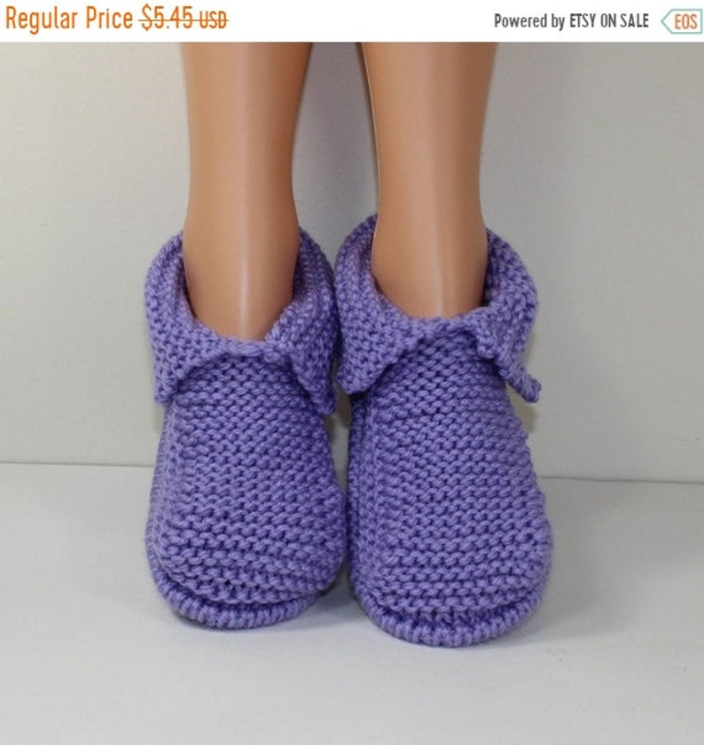 sale 25% off Adult Chunky Slippers knitting pattern by image 1