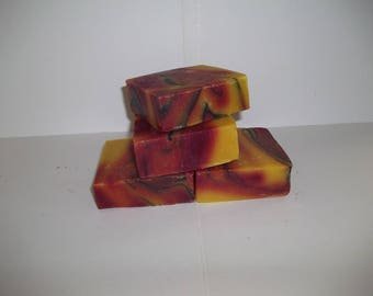 Gobi Gold Sweet Orange and Patchouli Natural Homemade Soap