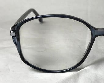 c2a6c7be38 Wilshire Designs Black Plastic Oversized Square Eyeglasses with Silver  Accents - PRESCRIPTION Lenses