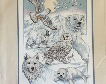 Dimensions Counted Cross Stitch Kit No. 3758 for Northern American Beauties Designed by Michael Adams - 11 in x 14 in