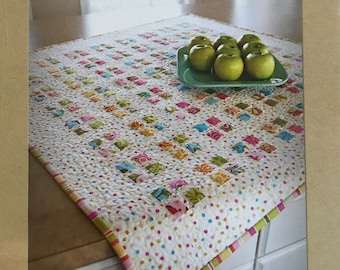 "Cotton Way No. 899 Fresh Apple Tart Quilt Pattern for 40"" by 40"" Table Topper or Baby Quilt - Fast and Easy Strip Method"