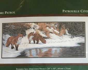 Elsa Williams Counted Cross Stitch Kit No. 02118 Shore Patrol by Terry Isaac - Finished Size 24 in x 10 in