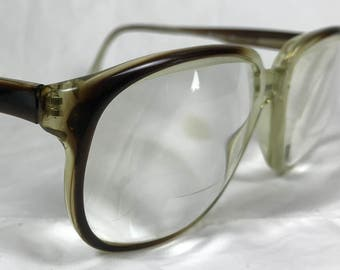 a84e522e37a Swan USA 010 Mens Over Size Eyeglasses in Brown Fade Out Translucent Plastic