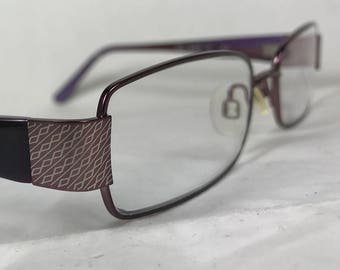 e067303e69 Altair Ashbury Purple Enameled Metal with Plastic Arms and Narrow Rectangle  Lenses