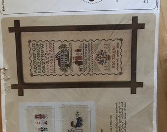 The Creative Circle No. 1610 Family Sampler by Patricia Nagai Counted Cross Stitch - 8 in x 16 in