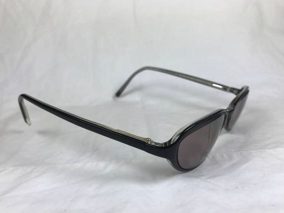 124c31ace84 Anne Klein AK8027 Black Plastic Narrow Oval Glasses