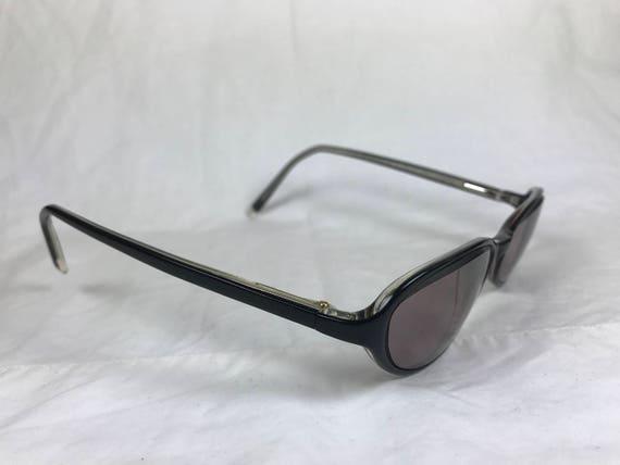 bd6f81fb70 Anne Klein AK8027 Black Plastic Narrow Oval Glasses