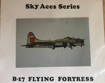 B-17 Flying Fortress Aces Series Counted Cross Stitch Pattern - A & L Designs SA009-C