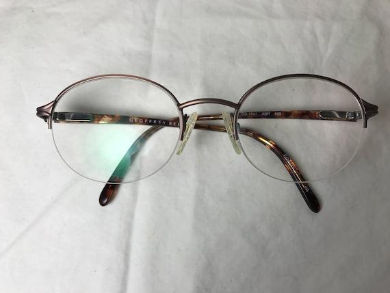 Geoffrey Beene 1141 Semi sans monture ronde lunettes en   Etsy 833e3ec52857