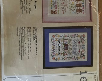 The Creative Circle No. 1692 Teddy Bear Sampler by Sue Miyata - Finished Size 12 in x 16 in